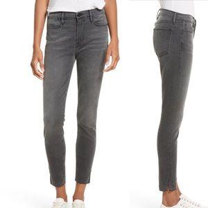 Frame denim le high skinny grey wash jeans